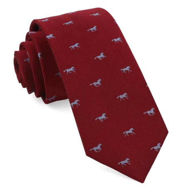 Wild Horses Red Tie