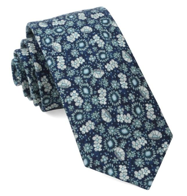 Flower City Navy Tie