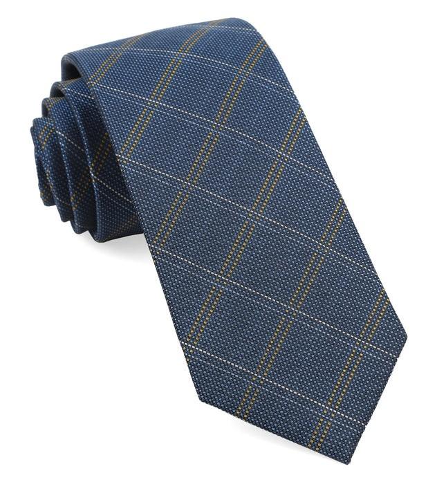 Wingman Checks Serene Blue Tie