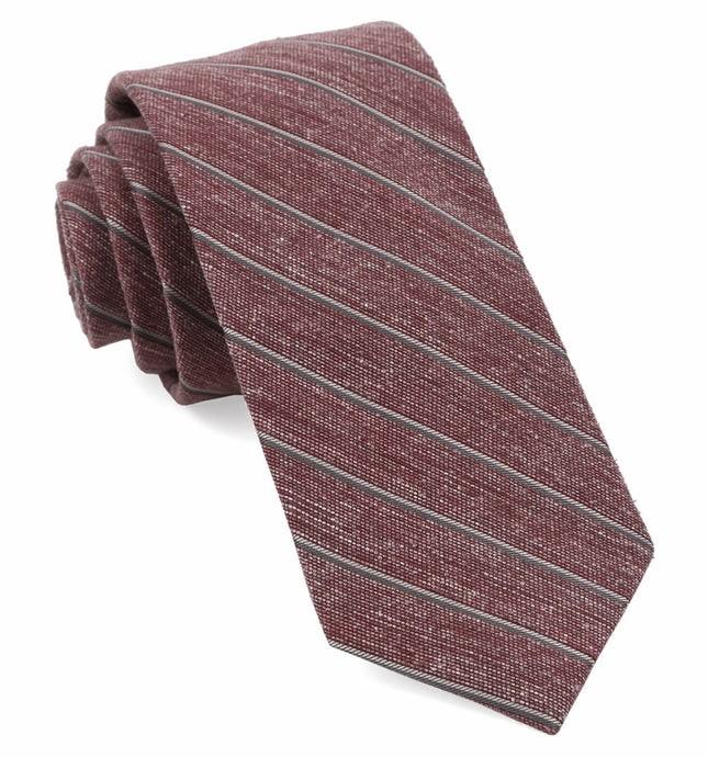 Pike Stripe Burgundy Tie