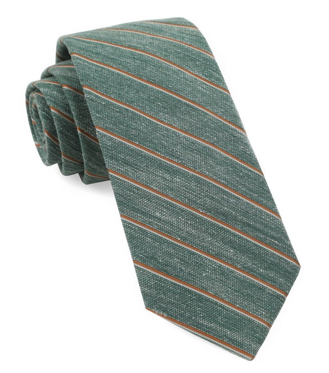 Pike Stripe Hunter Green Tie
