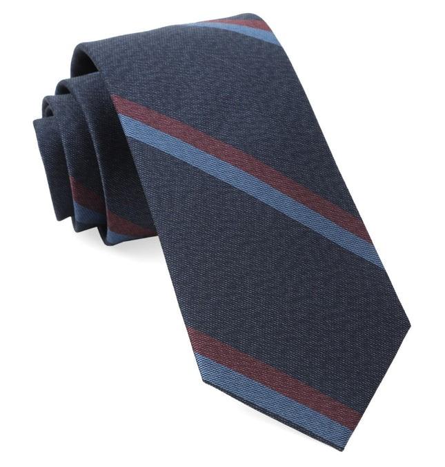 Slb Stripe Navy Tie
