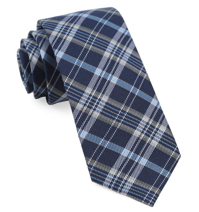 Andersen Plaid Navy Tie