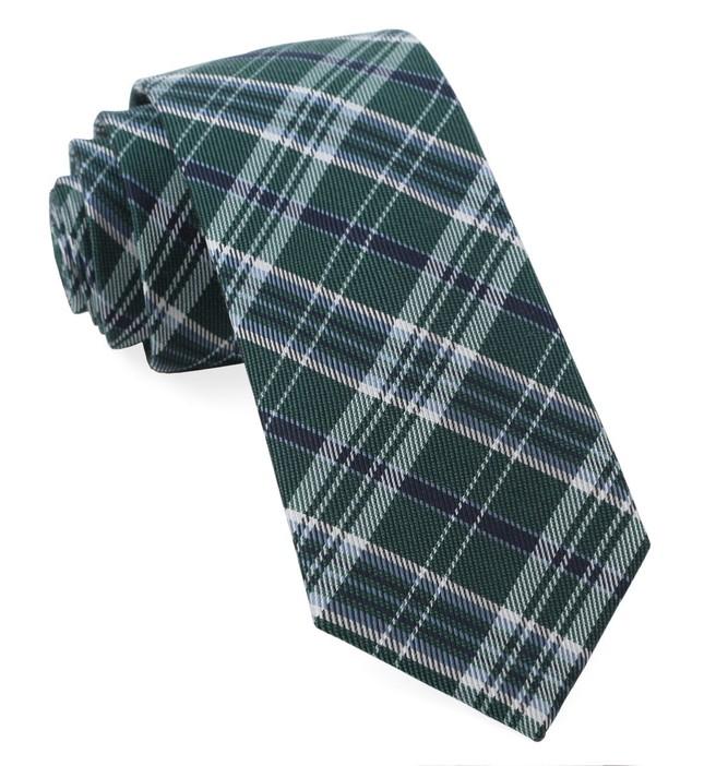 Andersen Plaid Hunter Green Tie