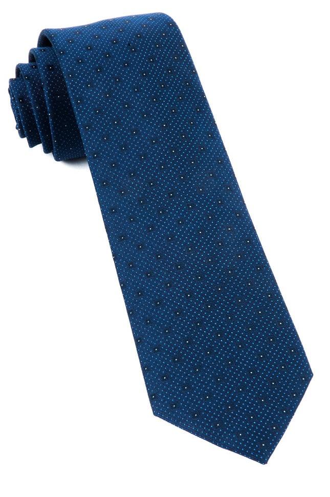 Geo Code Navy Tie