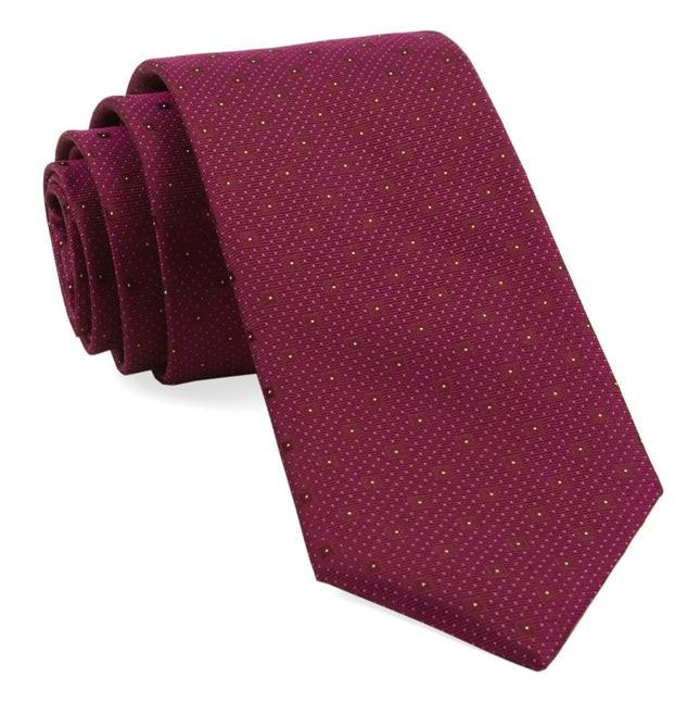 Geo Code Raspberry Tie