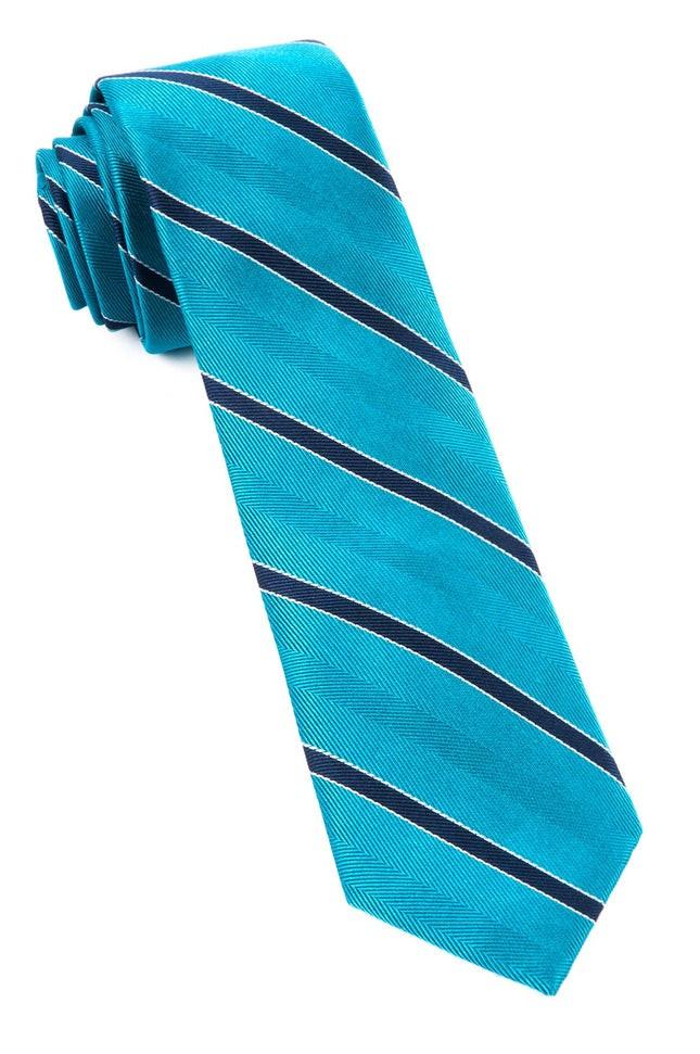 Pipe Dream Stripe Turquoise Tie