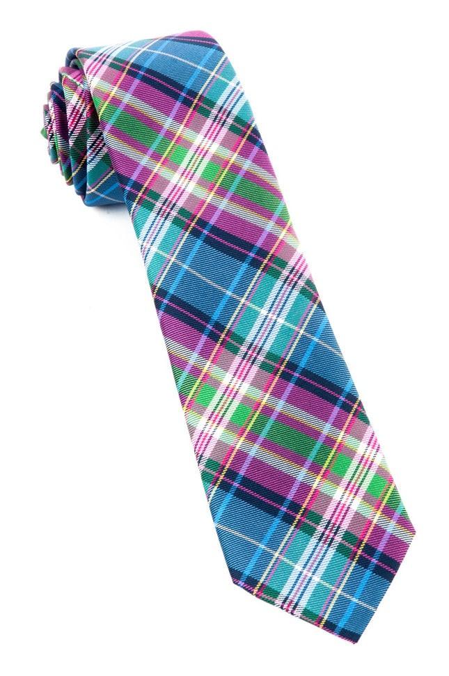 West Village Plaid Fuchsia Tie