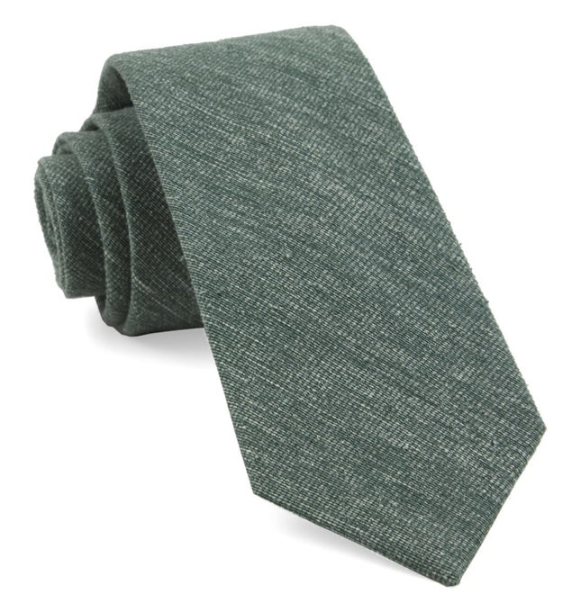 West Ridge Solid Hunter Green Tie
