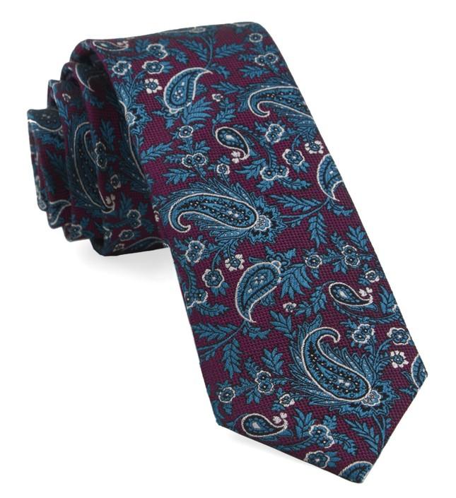 Concord Paisley Magenta Tie