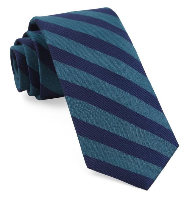 Lumber Stripe Teal Tie