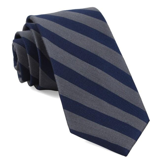 Lumber Stripe Grey Tie