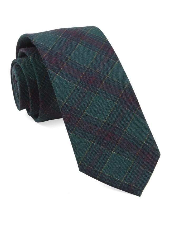 Pittsfield Plaid Hunter Green Tie