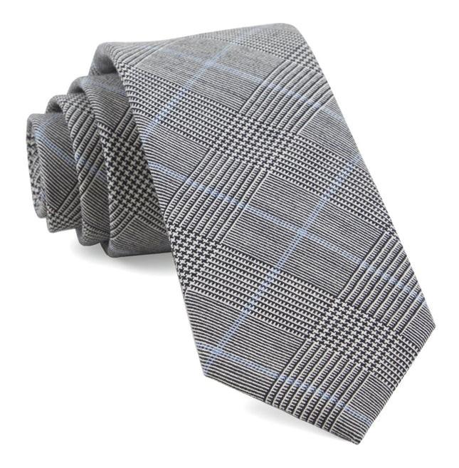 Glens Falls Plaid Black Tie