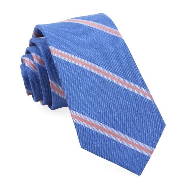 Leland Stripe Classic Blue Tie