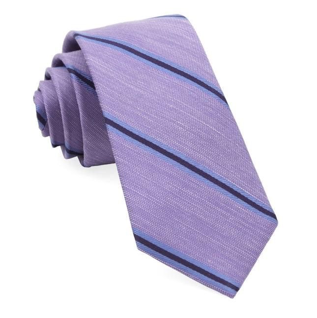 Leland Stripe Lavender Tie