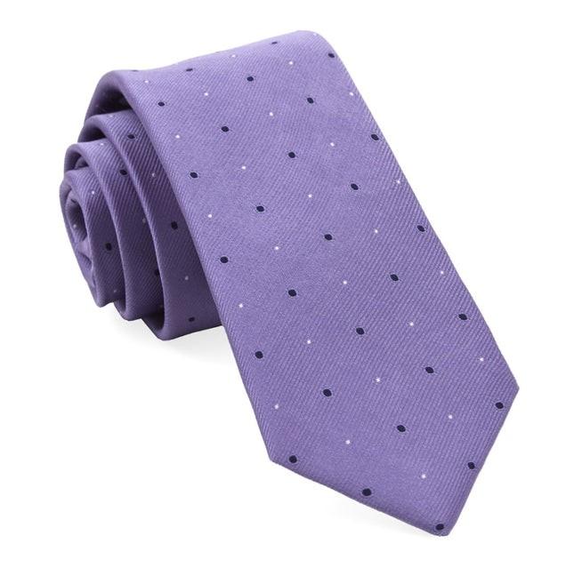 Delisa Dots Lavender Tie