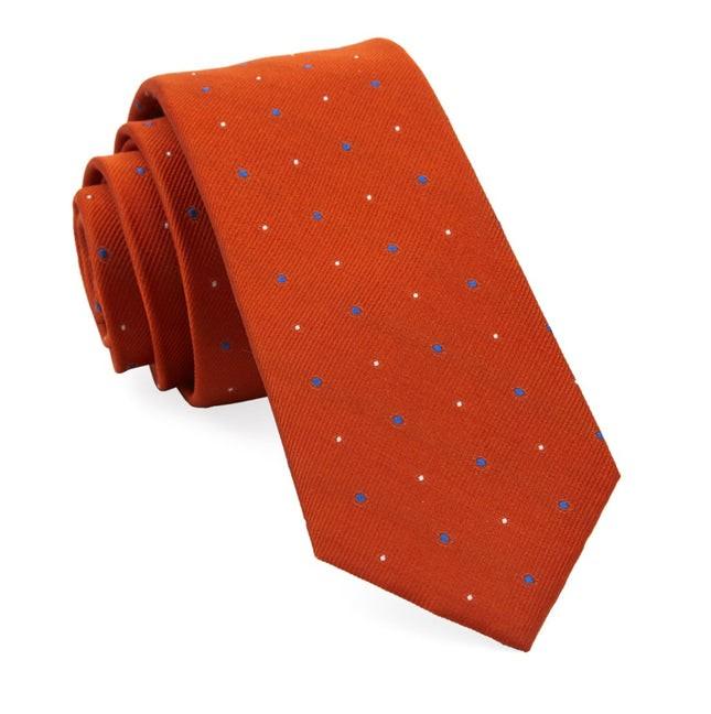 Delisa Dots Orange Tie