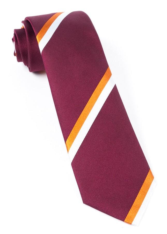 Ad Stripe Burgundy Tie