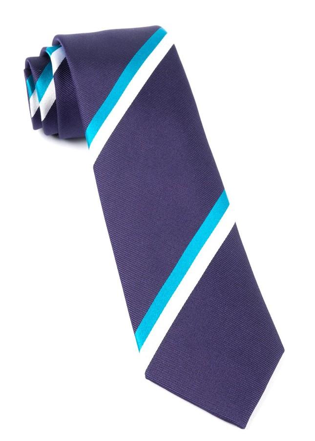 Ad Stripe Eggplant Tie