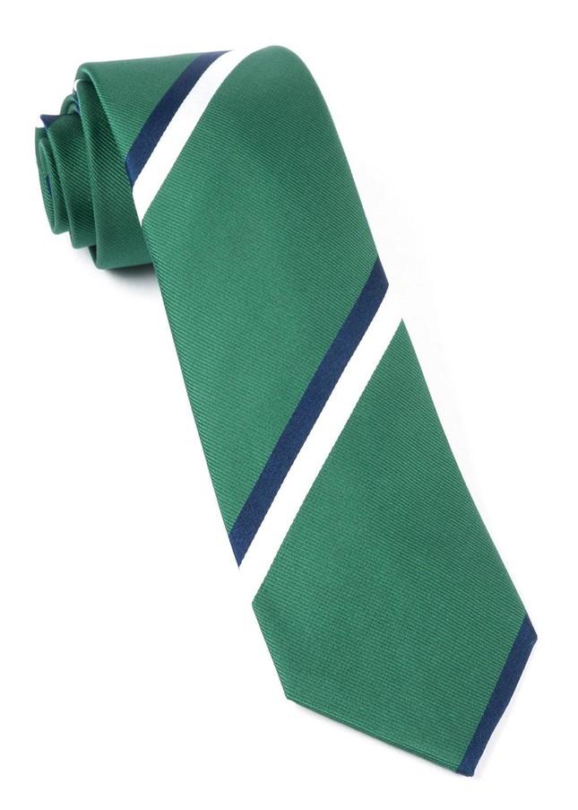 Ad Stripe Clover Green Tie