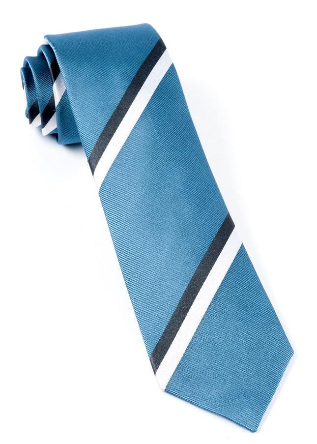 Ad Stripe Slate Blue Tie
