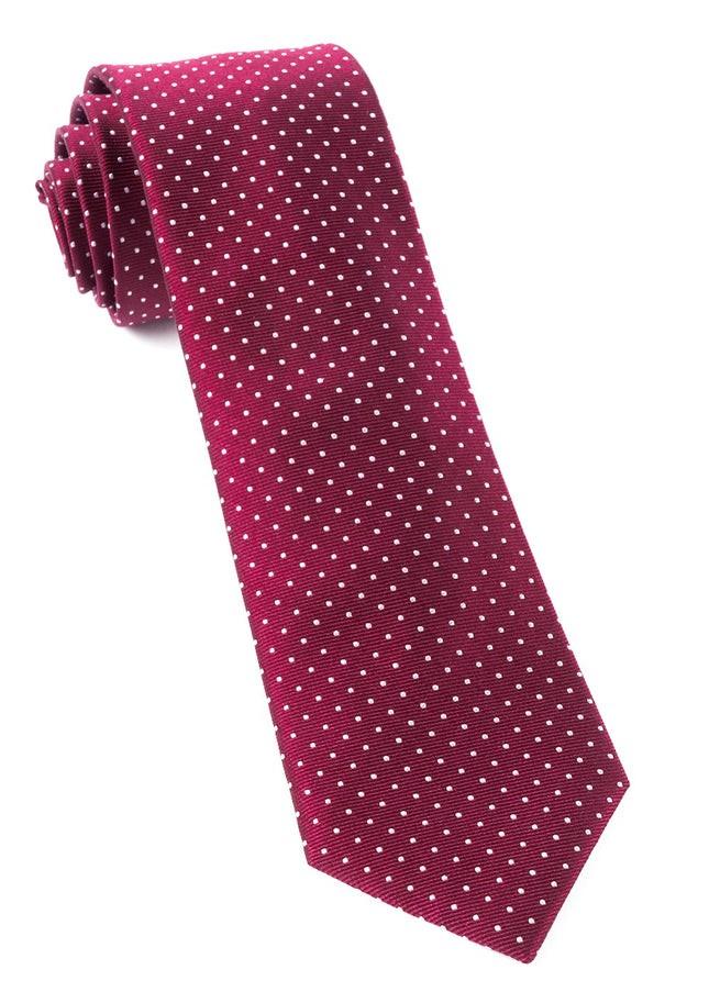 Mini Dots Burgundy Tie