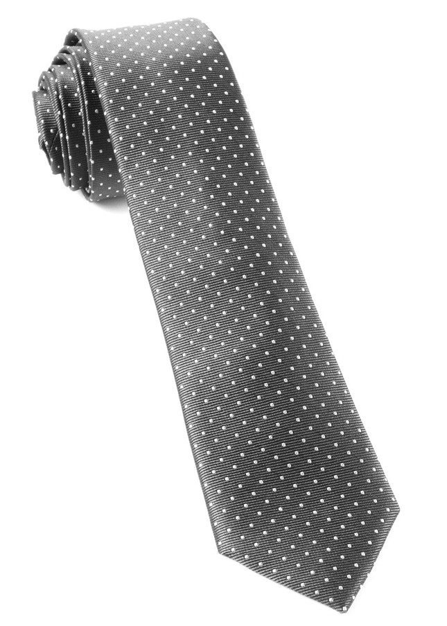 Mini Dots Charcoal Tie