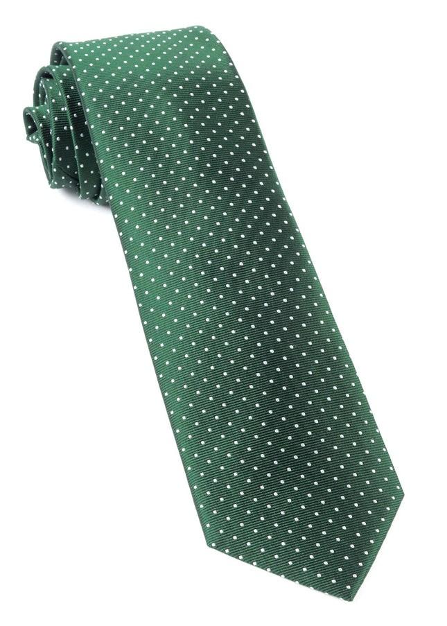 Mini Dots Hunter Green Tie