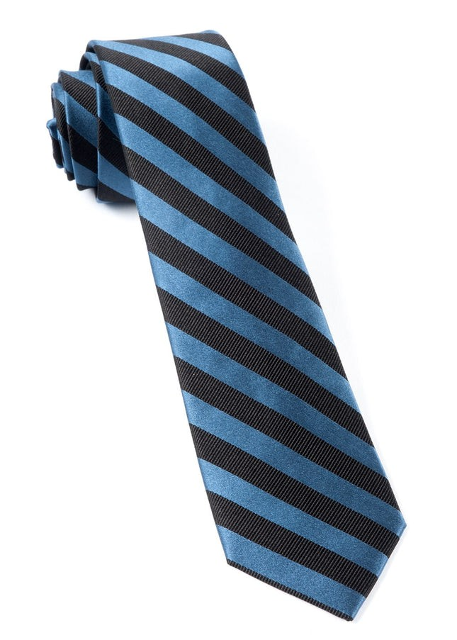 Twill Stripe Whale Blue Tie