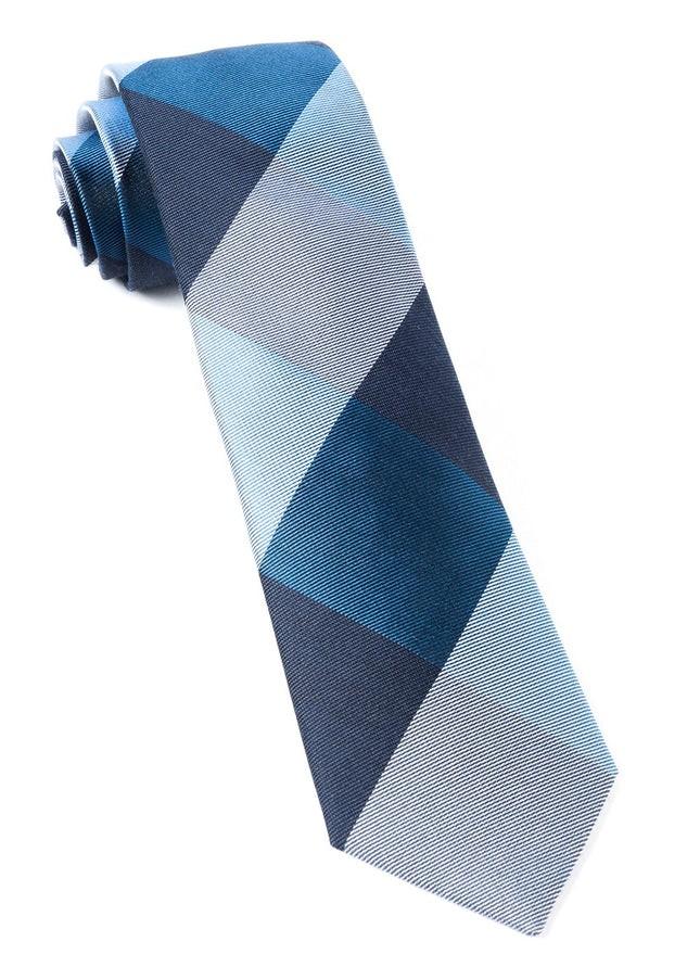 West Bison Plaid Navy Tie
