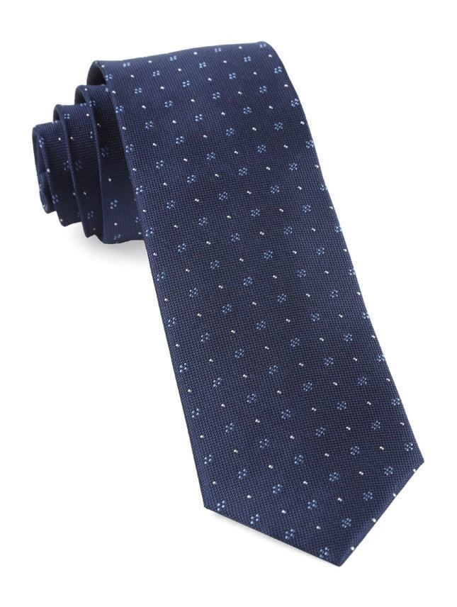 Geo Key Navy Tie