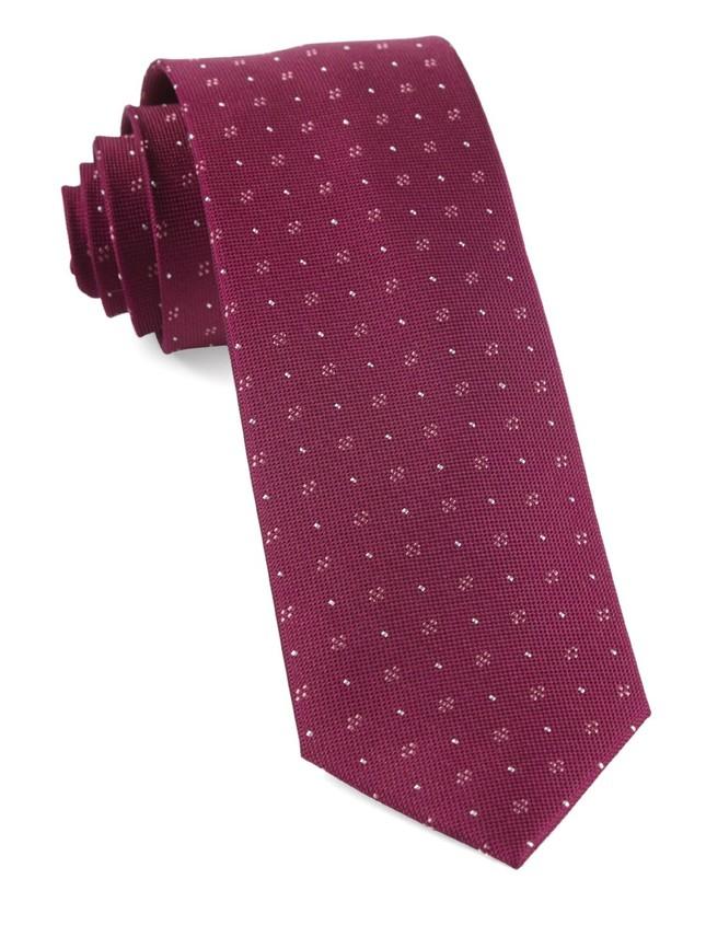 Geo Key Magenta Tie