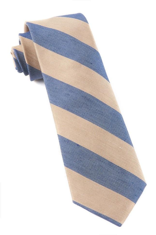 Levi Stripe Champagne Tie