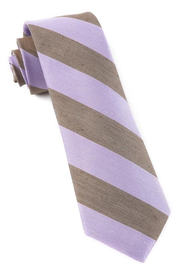 Levi Stripe Lavender Tie