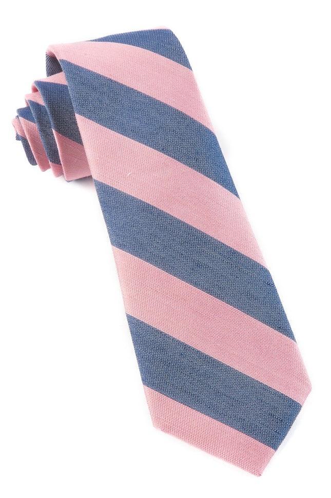 Levi Stripe Baby Pink Tie