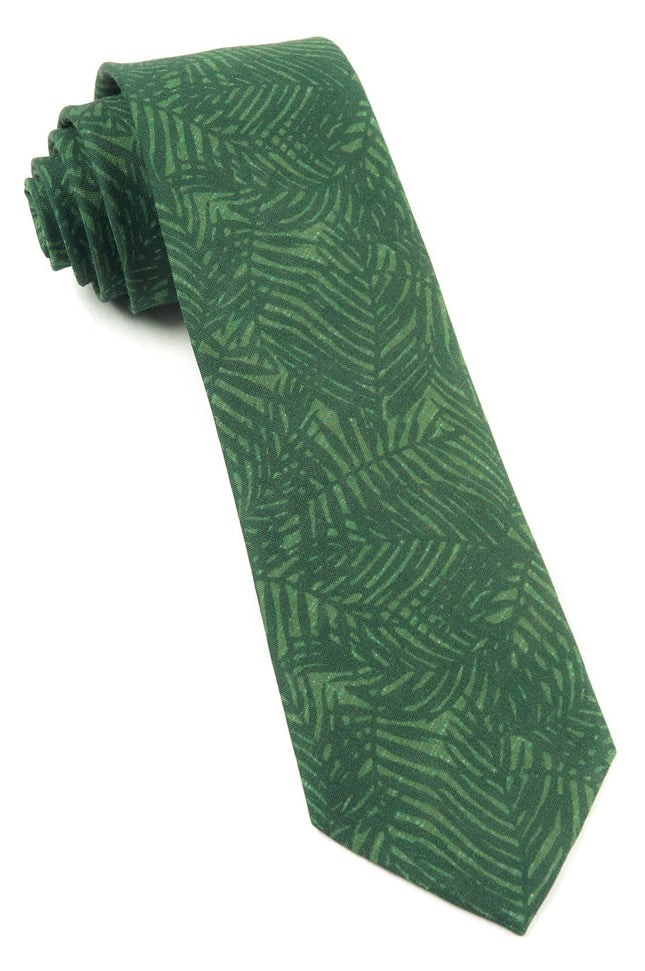 Palm Leaves Grass Green Tie