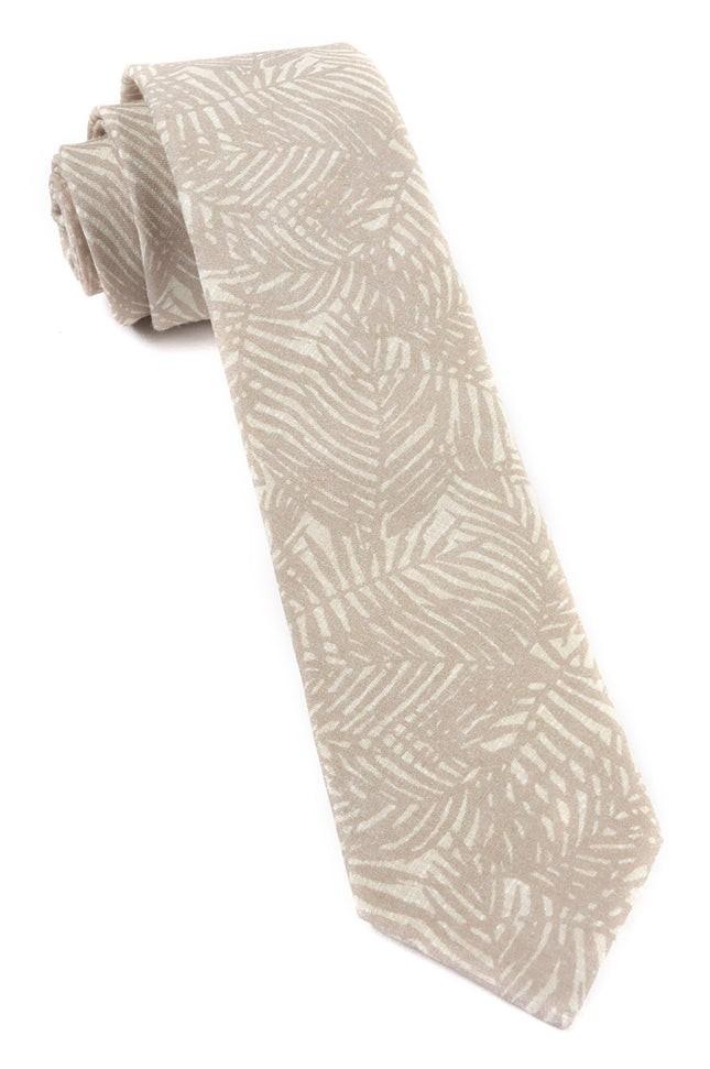 Palm Leaves Khaki Tie
