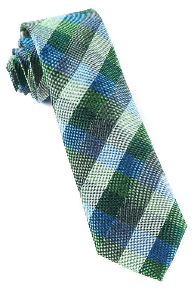 Pitch Plaid Kelly Green Tie