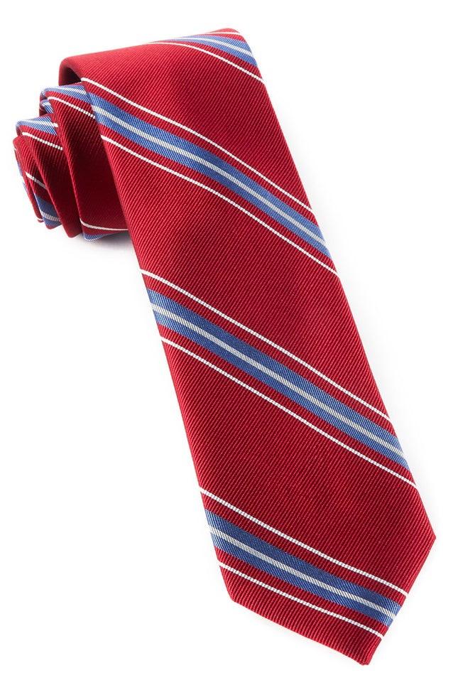 Rival Stripe Red Tie