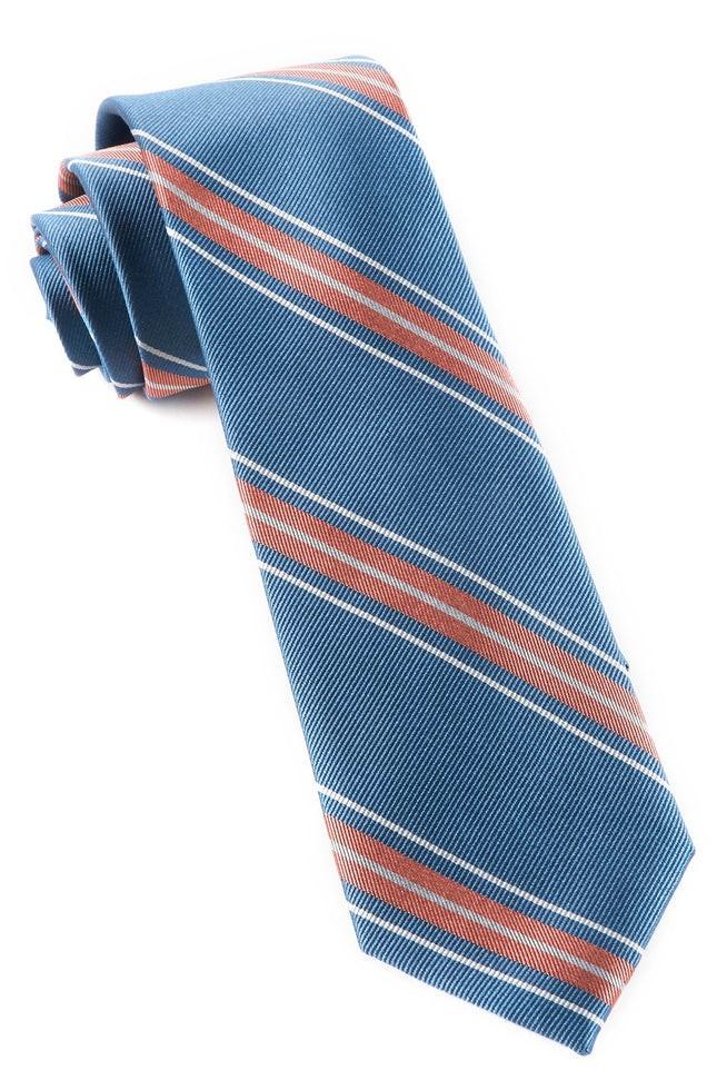 Rival Stripe Coral Tie