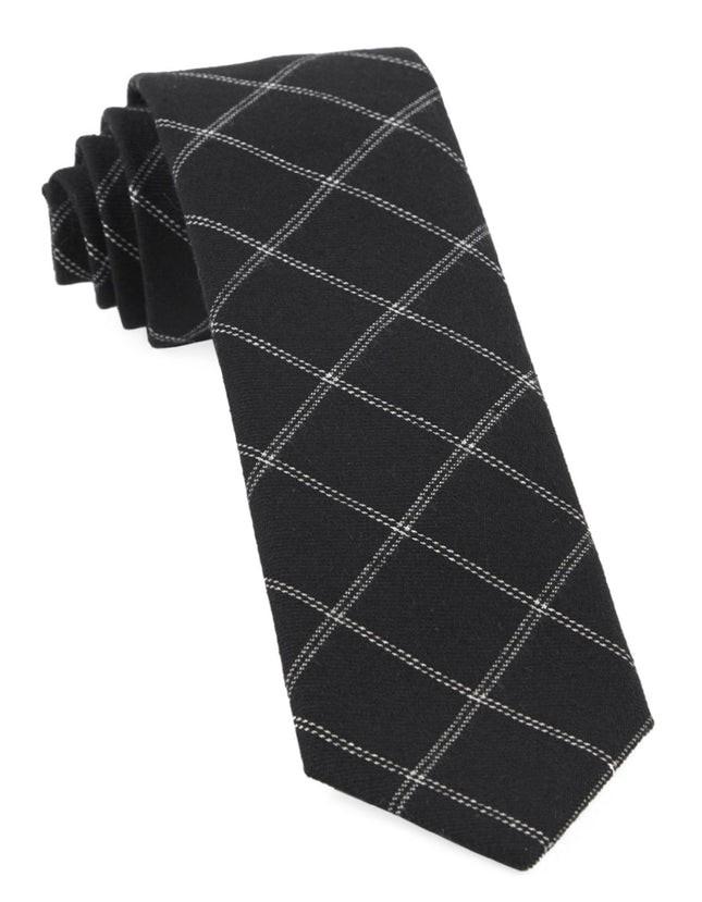 Plaid Graph Black Tie
