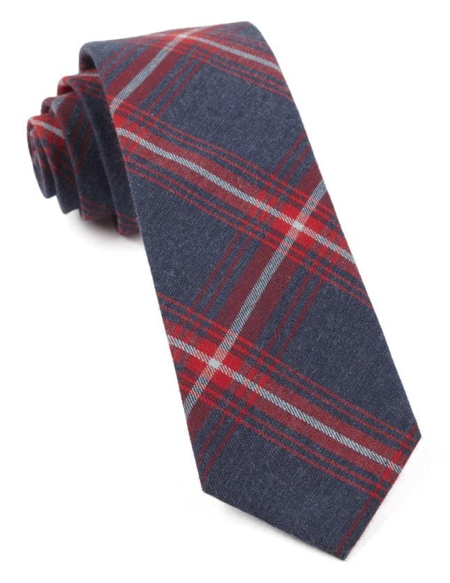 Reprint Plaid Apple Red Tie