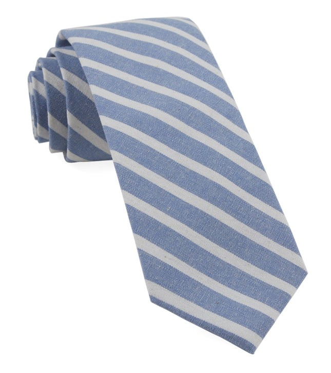 Canopy Stripe Light Blue Tie