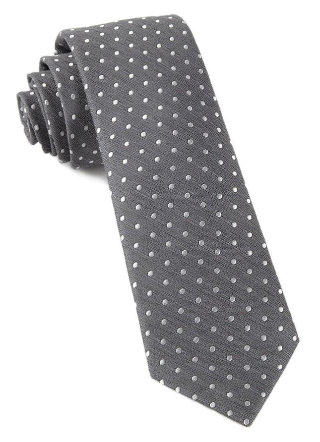 Shock Dots Charcoal Tie