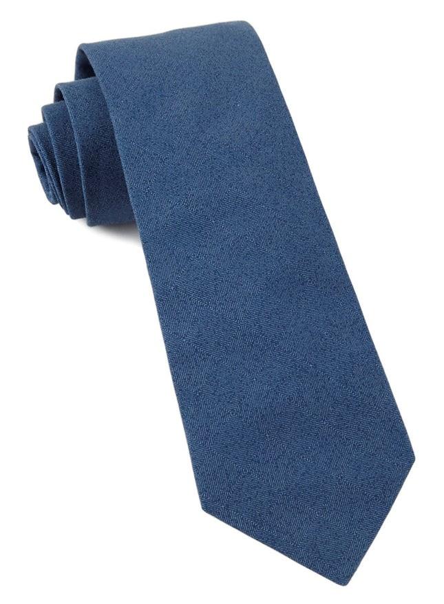 Solid Patrol Navy Tie