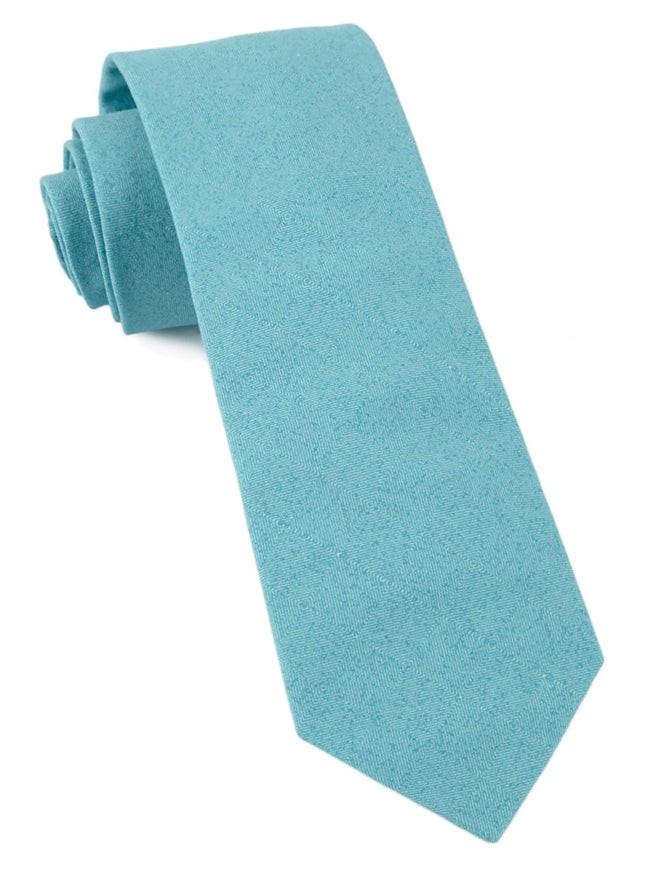 Solid Patrol Washed Teal Tie