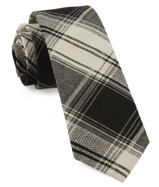 Rancho Plaid Black Tie