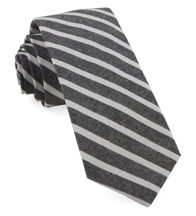 Canopy Stripe Charcoal Tie