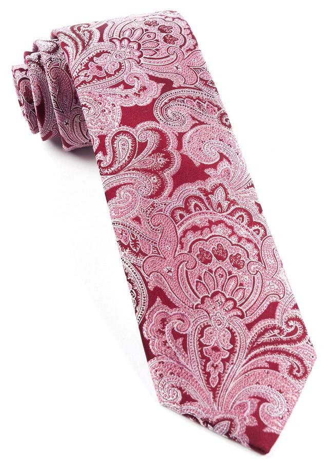 Designer Paisley Burgundy Tie